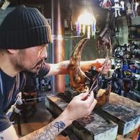 月とコーリー - Studio fu-mine Copper Works