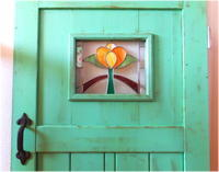 正面入口 取り付け完了 -庭小屋- - グラス工房 Grendora  -制作の足跡-
