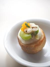 じゃが芋と空豆の一口前菜 - パンちゃん的日記(薬膳料理教室/中国家庭料理教室を主催)