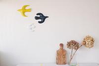 鹿児島陸「壁の鳥Linnut sharp」を飾るの巻 - 続・わやわや日記