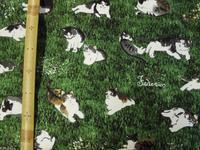 猫柄の布 - おさや糸店