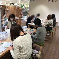 2月の北欧生地で作るカルトナージュ教室~1日目午前の部~ - 明石・神戸・姫路・加古川のカルトナージュ&タッセル教室 アトリエ・ペルシュ