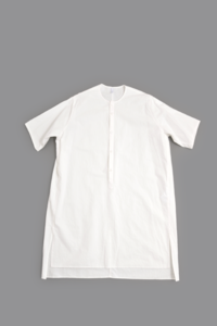 FIRMUM/フィルマム  20/- Cotton Sheeting Pullover Long Shirt (Off White) - un.regard.moderne