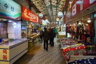 2017年1月 済州島への旅 その8 済州(チェジュ)の台所、東門市場(トンムンシジャン)探検 - キムチ屋修行の道