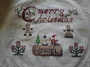 クリスマス刺繍完成!(*´∀`*) - ちゃたろうと気まま日記