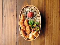 4/18(火)ささみカツ弁当 - おひとりさまの食卓plus
