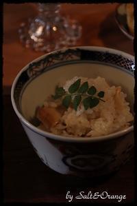 たけのこご飯のおすそ分け&バスケットカバー - Salt&Orange時々Pepper