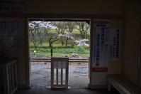 桜咲く春の駅舎 - 風の香に誘われて 風景のふぉと缶