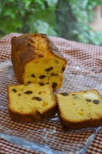 ラムレーズンとクリームチーズのパウンドケーキ - 調布の小さな手作りお菓子・パン教室 アトリエタルトタタン