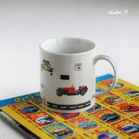 車のマグカップ - トールペイントとポーセラーツ アトリエ おつかいサンタさん