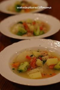 丸ごと新玉ねぎのスープ - わたしのくらし