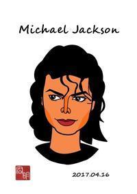 マイケル・ジャクソンを描きました。#3(C021) - 楽しいね。似顔絵は… ヒロアキの作品館