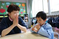 牛乳飲めるかな(たんぽぽ) - 慶応幼稚園ブログ【未来の子どもたちへ ~Dream Can Do!Reality Can Do!!~】
