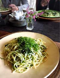 生の青海苔でメイン料理ができちゃう 生青海苔のパスタ - Coucou a table!      クク アターブル!