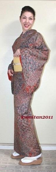 今日の着物コーディネート♪(2017.4.19)~紬着物&八寸帯編~ - 着物、ときどきチロ美&チャ美。。。お誂えもリサイクルも♪