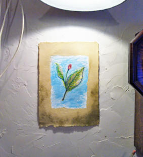 Yoki.Art. インスタレーション「石に花さく」 - greentea blog