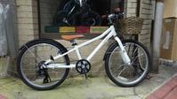 ジュニア用自転車に、かわいいカゴを取り付けてみました! - 大岡山の自転車屋TOMBOCYCLEのblog