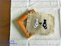 Weft(横糸)刺繍・猫の模様 ※追記あり・図案追加 - Weft(横糸)刺繍  -little by little-