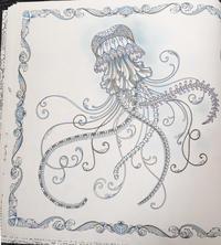 Thank you!! 彩色例の投稿 『海の楽園』by アキさん - オトナのぬりえ『ひみつの花園』オフィシャル・ブログ