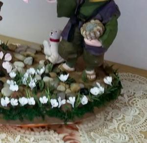 """花さかじいさんと桜の木とイヌ - ふわキラ粘土の""""夢づくり"""""""