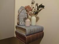本で作った棚 - ordinary days
