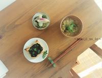 ストック食材でゆっくり朝ごはん風景 - 奈良パン教室 ~「もみじの家」~
