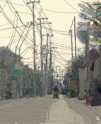 日暮れ - デジタル絵画・実験室