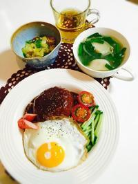 ロコモコ丼と夜食ラーメン☆ - Mi-Rinのおいしいもの日記