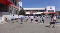 新年度最初の3分間マラソンの動画を公開します。 - 笠間市 ともべ幼稚園 ひろばの裏庭<笠間市(旧友部町)>