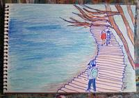 Day3 プリトヴィッツェ湖畔国立公園へ その1 - たなかきょおこ-旅する絵描きの絵日記/Kyoko Tanaka Illustrated Diary