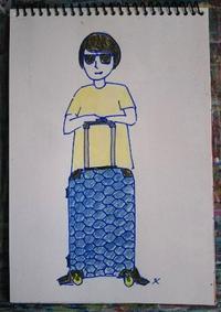 Day3 スーツケース購入☆ - たなかきょおこ-旅する絵描きの絵日記/Kyoko Tanaka Illustrated Diary