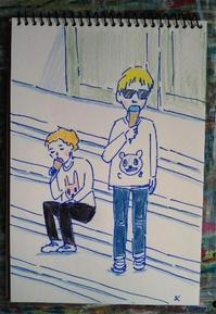 Day4 一気に夏の国へ来た - たなかきょおこ-旅する絵描きの絵日記/Kyoko Tanaka Illustrated Diary