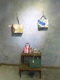 motif bag作品展始まりました - 北欧生地とリバティのハンドメイドバッグ