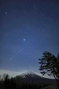Shooting star × Mt.Fuji - HI KA RI