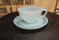 50's Fire King Turquoise Blue Cup&Saucer ファイヤーキング ターコイズ - DELIGHT CLOTHING&SUPPLY