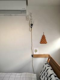 無印の壁につけられる長押を設置してスッキリ空間に♪  初夏の寝室模様替え - 10年後も好きな家