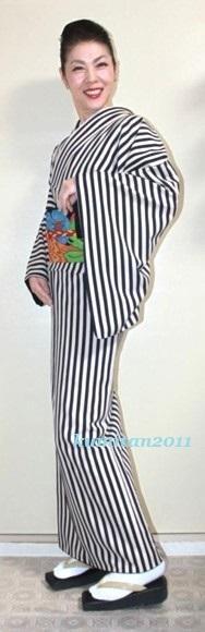 今日の着物コーディネート♪(2017.4.23)~ポリ小紋&名古屋帯編~ - 着物、ときどきチロ美&チャ美。。。お誂えもリサイクルも♪