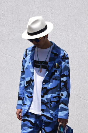 uniform experiment - CAMOUFLAGE SHEEP BACK 3 BUTTON JACKET. - UNDERPASS・・・Having fun!!!