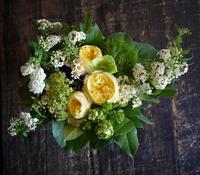 ご両親の銀婚式に。「ナチュラル、黄色系」。2017/04/22。 - 札幌 花屋 meLL flowers