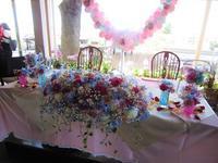 プラチナブルー(デルフィ)のウエディング花 - デイジーのひとりごと