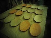 いろいろな小皿。 - 手作り家具工房の記録