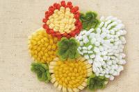 サンフェルト(株)からキットが発売されます~フェルトで作るお花ブローチ タンポポ~ - ビーズ・フェルト刺繍作家PieniSieniのブログ