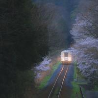 朝陽に輝く線路 - ゆる鉄旅情