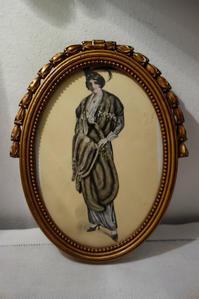 木製金彩楕円額615 - スペイン・バルセロナ・アンティーク gyu's shop