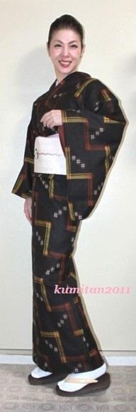 今日の着物コーディネート♪(2017.4.19)~久米島紬&博多帯編~ - 着物、ときどきチロ美&チャ美。。。お誂えもリサイクルも♪