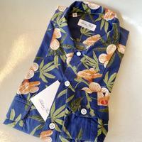 Salvatore Piccolo(サルヴァトーレ・ピッコロ)ロングスリーブハワイアンシャツ(ブルー系花柄) - 下町の洋服店 krunchの日記