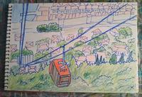 Day4 ロープウェイとてんとう虫 - たなかきょおこ-旅する絵描きの絵日記/Kyoko Tanaka Illustrated Diary