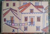 Day5 城壁からの絶景 - たなかきょおこ-旅する絵描きの絵日記/Kyoko Tanaka Illustrated Diary