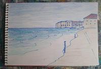 Day5 ビーチ&ビーサン - たなかきょおこ-旅する絵描きの絵日記/Kyoko Tanaka Illustrated Diary