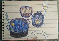 Day6 シーフード三昧 - たなかきょおこ-旅する絵描きの絵日記/Kyoko Tanaka Illustrated Diary